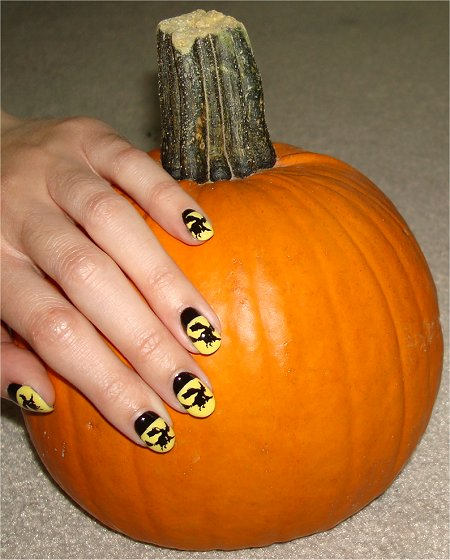 Halloween Nail Art Tutorial Witch Nails & Pumpkin