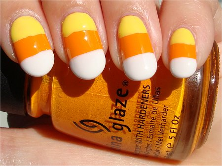 Halloween Nail Tutorial Candy Corn Nails