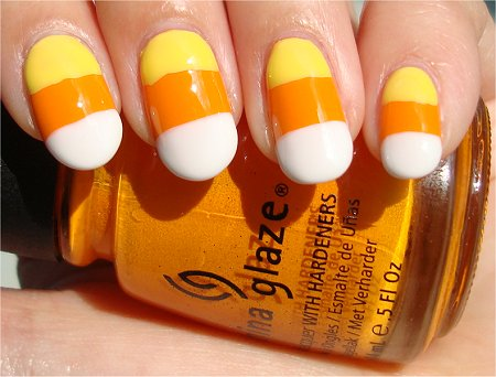 Halloween Nails Candy Corn Nail Art Tutorial