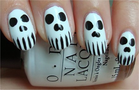 Halloween Skull Nail Art Tutorial