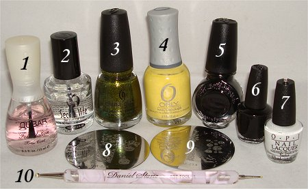 Haunted House Nail Supplies & Tutorial