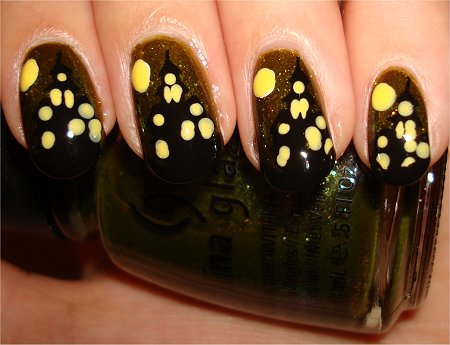 Haunted House Nails Nail Art Tutorial Step 7