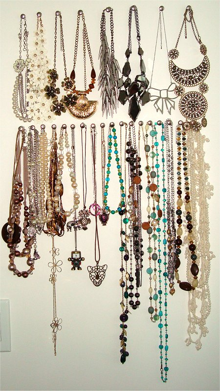 Inexpensive DIY Necklace Organization & Holder Tutorial