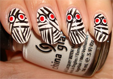 Mummy Nail Art Tutorial Step 5