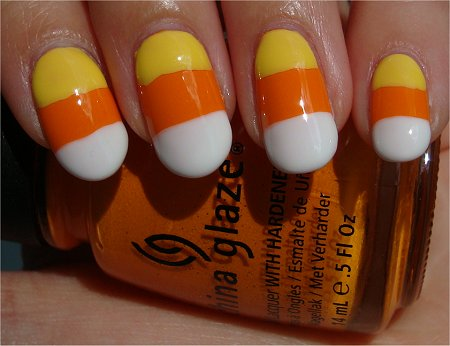 Nail Art Candy Corn Nails