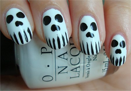 Nail Art Tutorial Skull Nails