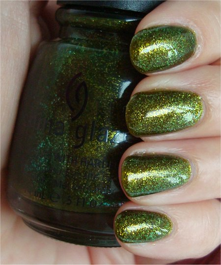 Natural Light China Glaze Zombie Zest Awakening Collection 2010 Swatches & Review
