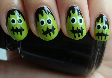 Natural Light Dr. Frankenstein Nail Art Tutorial