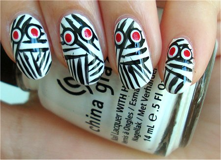 Natural Light Easy Hallowe'en Nail Art Mummy Nails