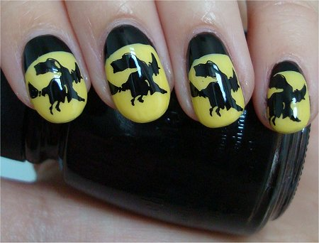 Natural Light Hallowe'en Nail Art Witch Nail Art Tutorial & Swatch