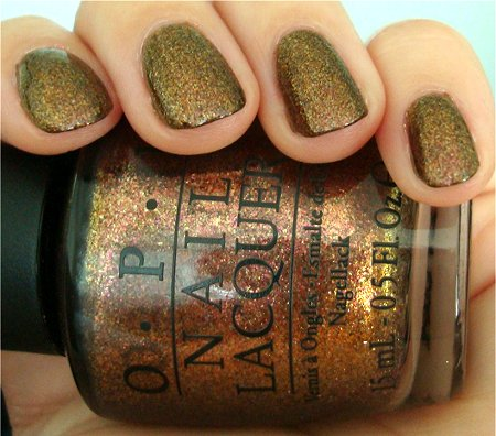 Natural Light Muppets 2011 OPI Holiday Collection Swatches Warm & Fozzie Swatch & Review