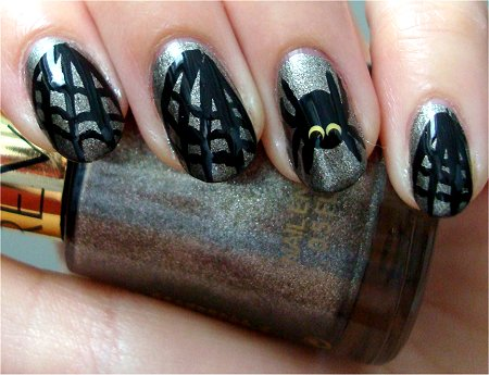 Natural Light Spider Nail Art Tutorial & Pics
