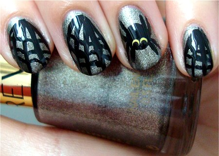 Natural Light Spiderweb Nails Nail Art Tutorial & Photographs