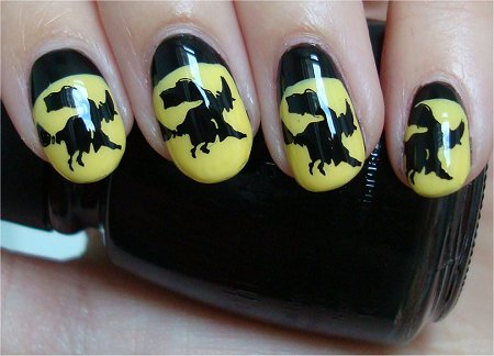 Natural Light Witch Halloween Nail Art Tutorial How to