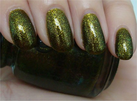 Natural Light Zombie Zest China Glaze Swatches & Review & Pictures