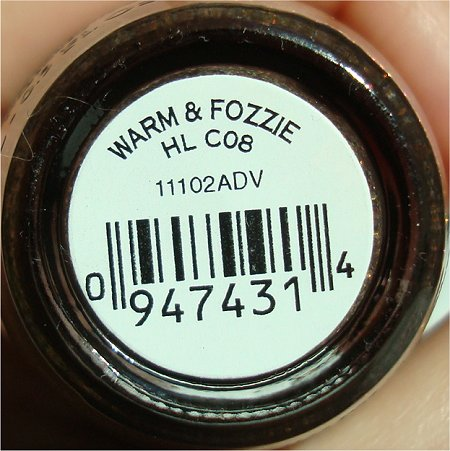 OPI Warm & Fozzie Bottle Picture