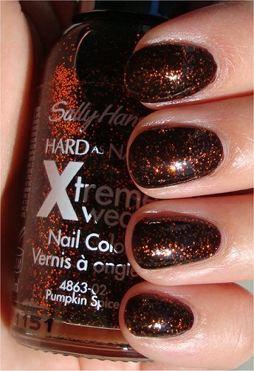 Sally Hansen Pumpkin Spice Swatches & Review smaller