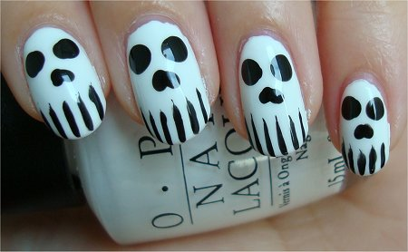 Skull Nail Art Tutorial & Swatches
