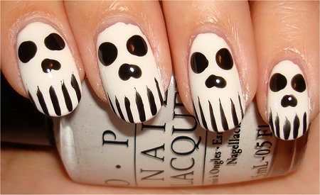 Skull Nail Tutorial &amp; Swatch