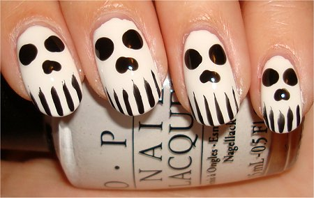 Skull Nails Nail Art & Swatches