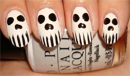 Skull Nails Nail Art Tutorial Step 4