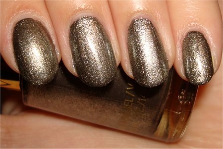 Spider & Web Nail Art Tutorial Step 1 Revlon Carbonite Swatch