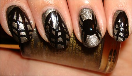 Spider & Web Nail Art Tutorial Step 5
