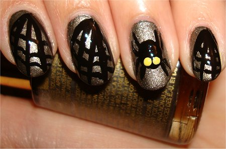 Spider & Web Nail Art Tutorial Step 6