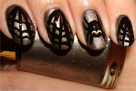Spider & Web Nail Art Tutorial Step 7