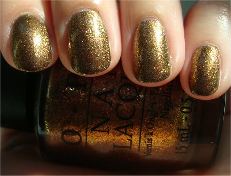 Sunlight OPI Holiday Muppets Collection Swatches OPI Warm & Fozzie Swatch & Review