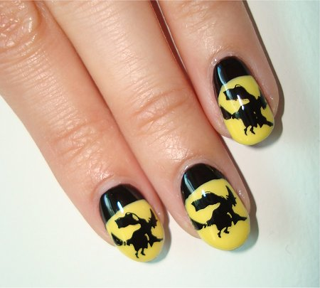 Witch Nails Nail Art Tutorial & Pictures