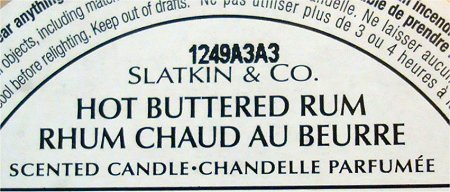 Bath & Body Works Slatkin & Co. Hot Buttered Rum Review & Pictures