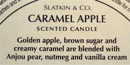 Bath & Body Works Slatkin and Co. Caramel Apple Candle Review & Pictures