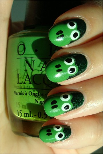 Easy Frog Nails Nail Art Tutorial &amp; Swatch