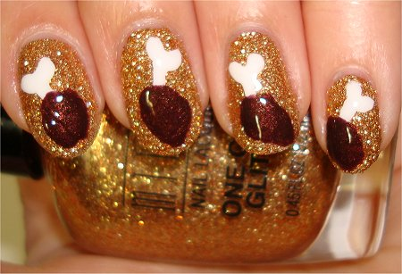 Flash Chicken Nails Nail Art Tutorial Step by Step Instructions