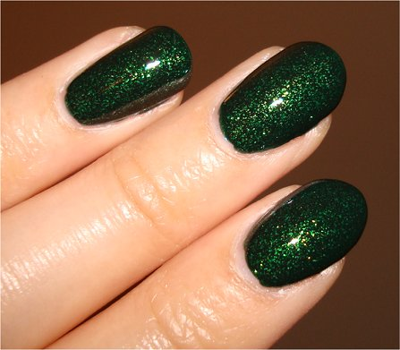 Flash China Glaze Glittering Garland Let It Snow Swatch & Review