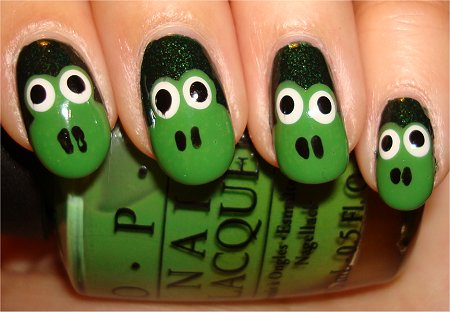 Flash Froggy Nails Easy Nail Art Tutorial