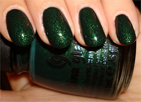 Flash Glittering Garland China Glaze Let It Snow 2011 Collection Swatches & Review
