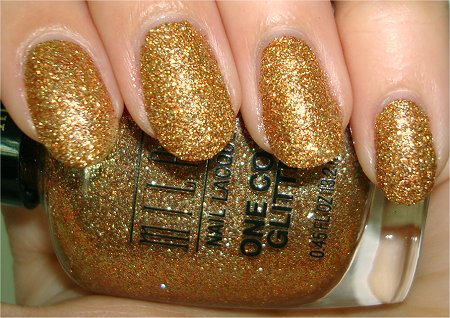 Flash Gold Glitz Milani One Coat Glitter Review & Swatches