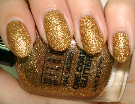 Flash Milani Gold Glitz Review & Swatch One Coat Glitter Nail Polish