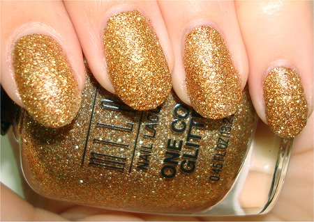 Flash Milani Gold Glitz Swatches &amp; One Coat Glitter Review