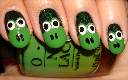 Frog Nail Art Tutorial Step 7