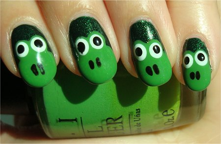 Frog Nails Nail Art Tutorial & Swatches