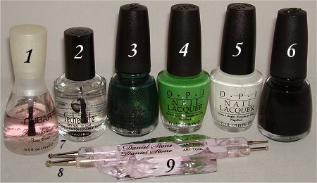 Frog Nails Tutorial Supplies