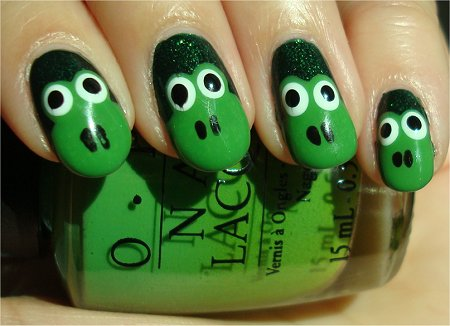 Nail Art Tutorial Frog Nails & Pictures