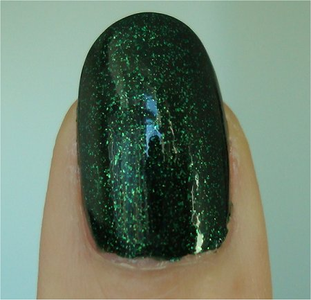 Natural Light China Glaze Let It Snow Collection Glittering Garland Swatches & Review