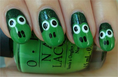Natural Light Froggy Nails Easy Nail Tutorial