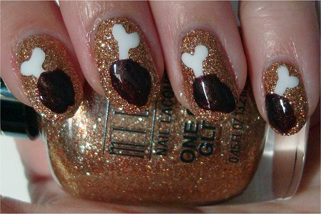 Natural Light Funny Food Nail Art Tutorial Chicken Drumstick Pictures