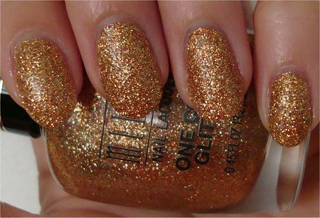 Natural Light Milani One Coat Glitters Review &amp; Swatches Gold Glitz 525