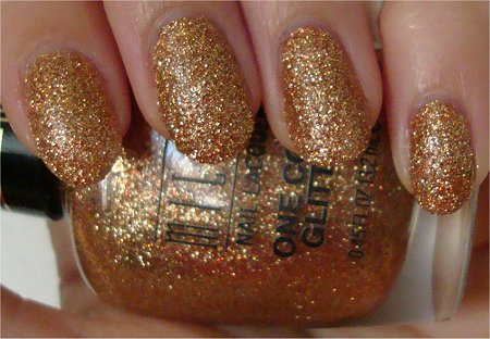 Natural Light One Coat Glitter Milani Gold Glitz Review &amp; Swatches